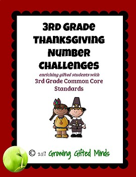 3rd Grade Thanksgiving Number Puzzles