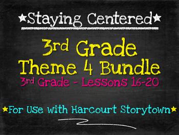 3rd Grade Theme 4 Bundle Harcourt Storytown Lessons 16-20