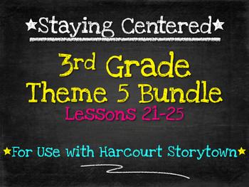 3rd Grade Theme 5 Bundle Harcourt Storytown Lessons 21-25