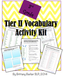 3rd Grade Tier 2 Vocabulary Activity Kit