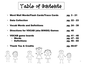 3rd Grade Tier 2 Vocabulary Extras