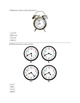 3rd Grade Time Assessment