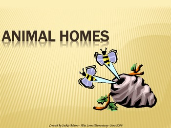 """3rd Grade Treasures """"Animal Homes"""" Introductory PowerPoint"""