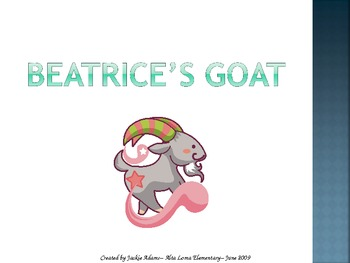 "3rd Grade Treasures ""Beatrice's Goat"" Introductory PowerPoint"