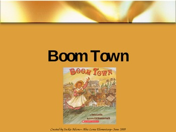 """3rd Grade Treasures """"Boom Town"""" Introductory PowerPoint"""