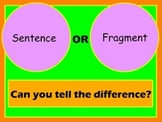 Sentence or Fragment Statement or Question