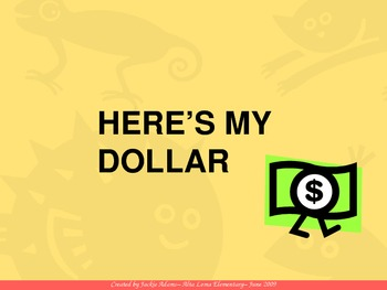 """3rd Grade Treasures """"Here's My Dollar"""" Introductory PowerPoint"""