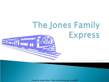 """3rd Grade Treasures """"Jones Family Express"""" Introductory PowerPoint"""