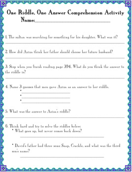 3rd Grade Treasures One Riddle One Answer Pack
