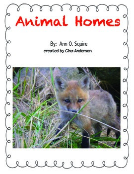 "3rd Grade Treasures Reading Unit 5 Week 5 ""Animal Homes"""