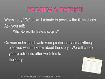 """3rd Grade Treasures """"Stone Soup"""" Introductory PowerPoint"""