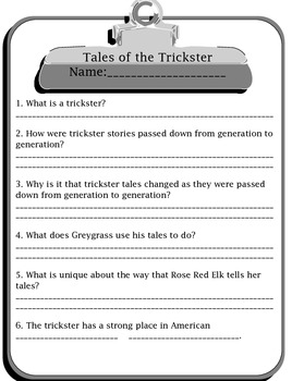 3rd Grade Treasures Tales of a Trickster Pack