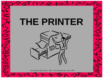 """3rd Grade Treasures """"The Printer"""" Introductory PowerPoint"""