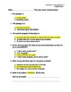 3rd Grade Treasures Unit I Comprehension Questions (5 main stories/5 follow-up)