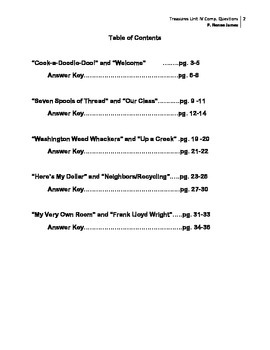 3rd Grade Treasures Unit IV Comprehension Questions (5 main stories/5 follow-up)