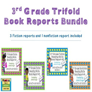 3rd Grade Trifold Book Reports Bundle: Fiction and Nonfiction