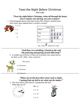 Night Before Christmas: Sentence Diagram | Worksheet | Education.com
