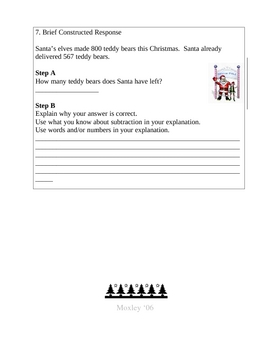 3rd Grade- Twas the Night Before Christmas- Math Activity