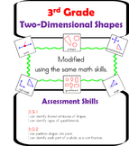 3rd Grade Two-Dimensional Shapes Unit 2D (Autism / SPED / ELL / ESL)