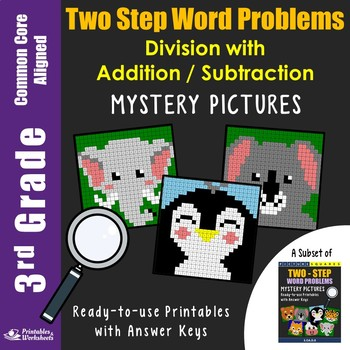 Math Mysteries 3rd Grade Two Step Word Problems Coloring pages
