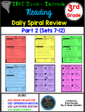 3rd Grade Tx Tornado Daily Reading Spiral Review PART 2 (TEKS/STAAR) PAPER ONLY