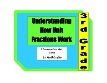 3rd Grade Understanding How Unit Fractions Work Game for Common Core