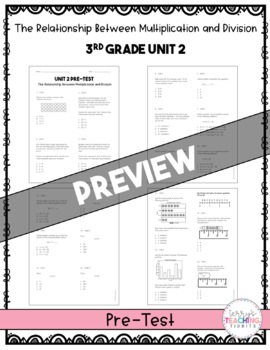 3rd Grade Unit 2 Math Test Pack {Paper/Pencil and Paperless}