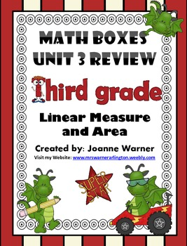 3rd Grade Unit 3 Everyday Math Review ~ Linear Measure & Area