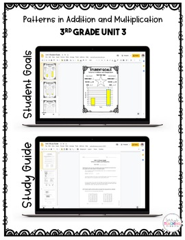 Patterns in Addition and Multiplication Test Pack *3rd Grade Unit 3* {Paperless}