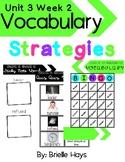 3rd Grade Unit 3 Week 2 WONDERS Vocabulary Strategies