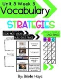 3rd Grade Unit 3 Week 5 WONDERS Interactive Vocabulary Strategies