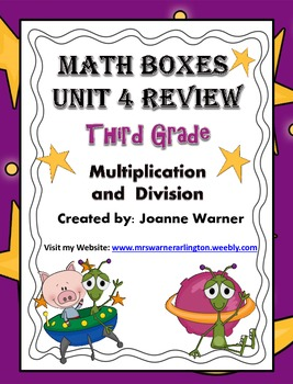 3rd Grade Unit 4 Everyday Math Review ~ Multiplication & Division
