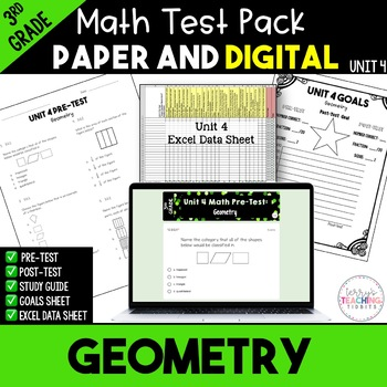 3rd Grade Unit 4 Math Test Pack {Paper/Pencil and Paperless}