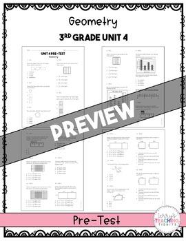 3rd Grade Unit 4 Math Test Bundle {Paper/Pencil and Paperless}