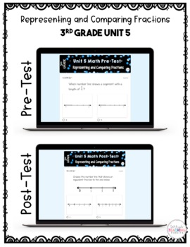 3rd Grade Unit 5 Math Test Pack {Paper/Pencil and Paperless}