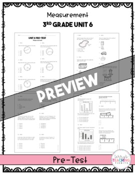 3rd Grade Unit 6 Math Test Pack {Paper/Pencil and Paperless}