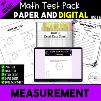 3rd Grade Unit 6 Math Test Bundle {Paper/Pencil and Paperless}