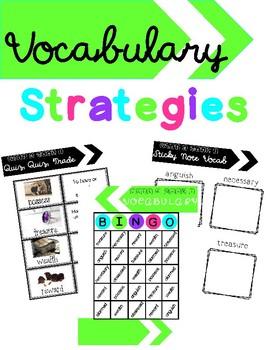 3rd Grade Unit 6 Week 1 Wonders Vocabulary Strategies