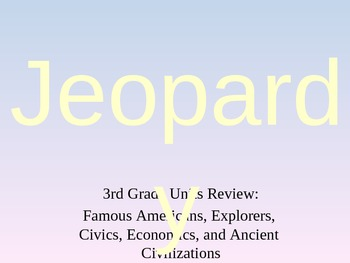 3rd Grade Units Review Jeopardy