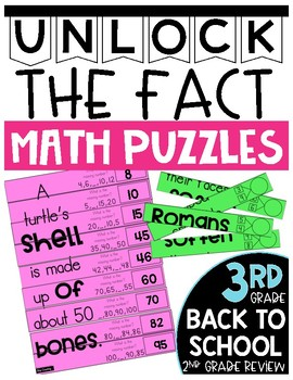 3rd Grade Unlock the Fact Math Puzzles: 2nd Grade Review