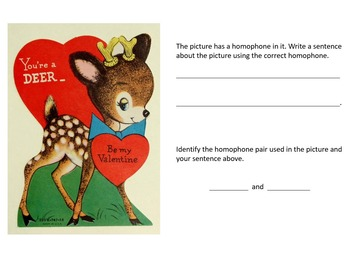 3rd Grade Silly Valentine Images: Reading and Language Arts Skills
