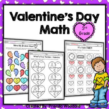 64d92522ed8d 3rd Grade Valentine s Day Math Worksheets by Priscilla Woodard - Tasked 2  Teach