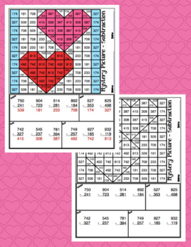 3rd Grade Valentines's Day Math: 3rd Grade Math Mystery Pictures