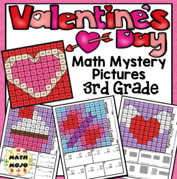 3rd grade valentine 39 s day math 3rd grade math mystery pictures by math mojo. Black Bedroom Furniture Sets. Home Design Ideas