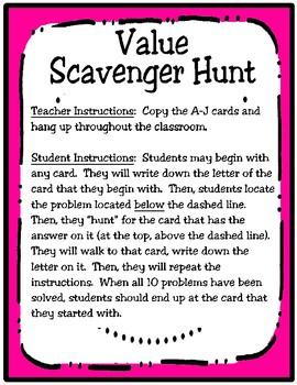 3rd Grade Value Scavenger Hunt: Expanded Notation (TEKS 3.2A)