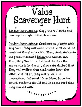 3rd Grade Value Scavenger Hunt: Expanded Notation (TEKS 3.2A) STAAR Practice