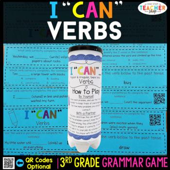 3rd grade verbs game regular and irregular verbs simple