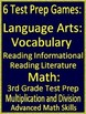 3rd Grade Virginia SOL Test Prep Math and Reading Game Bundle 6 PowerPoint Games