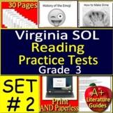 3rd Grade Virginia SOL Reading Test Prep Practice TEI Technology Enchanced Items