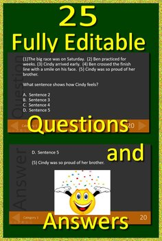 3rd Grade Virginia SOL Reading Test Prep Reading Literature Review Game